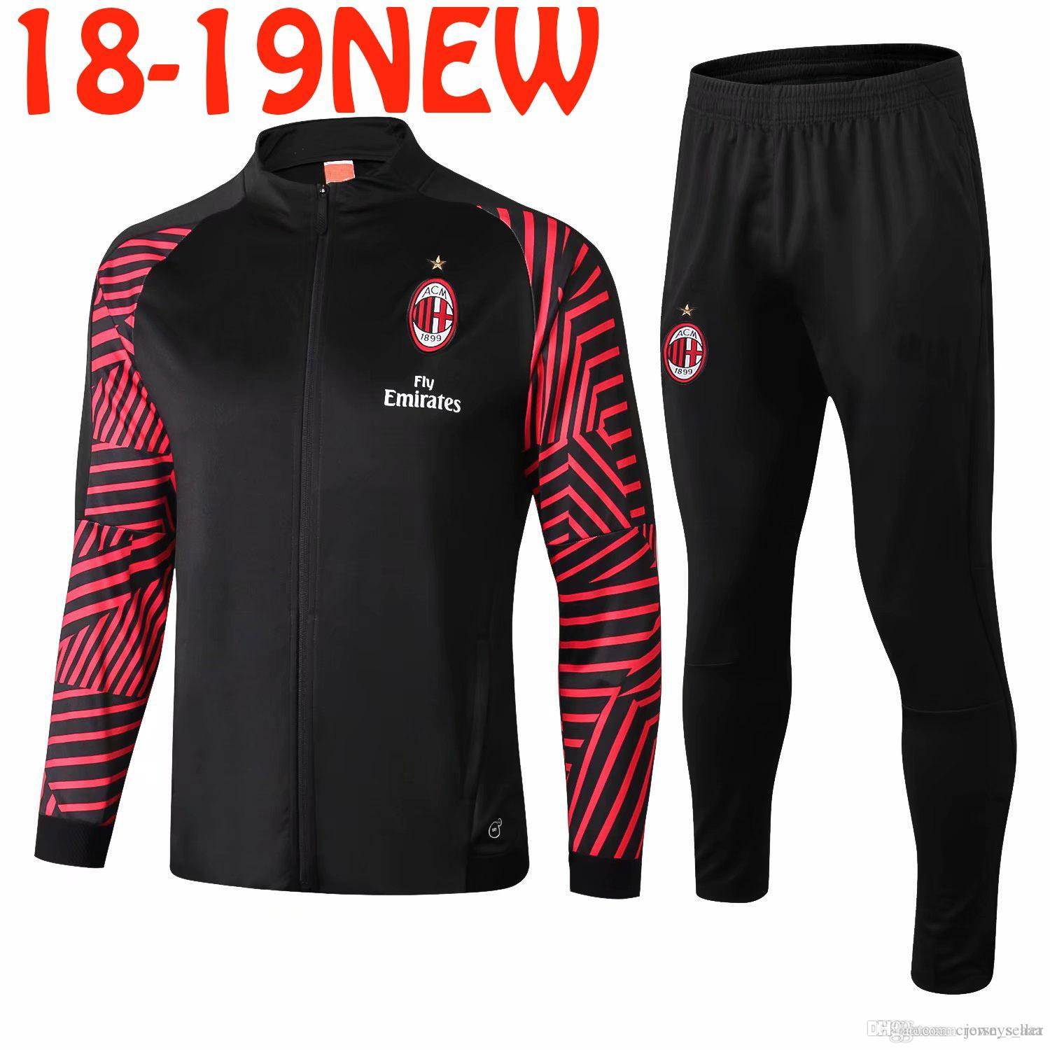 100% authentic b35f1 fde65 18 19 Serie A Juventus FC Home Away Soccer Tracksuit Set Kit AS Roma AC  Milans Inter Football Jacket Training Suit Survetement Chandal