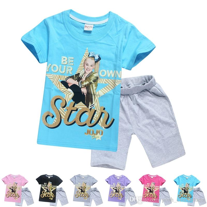Be Your Star Jojo Outfits Cotton Jojo Siwa Inspired Clothing Sets for Sale  Casual Home Wear Jojo Shorts Summer Clothes US SZ6-14 Jojo Outfits Be Your  Star ... af33af0fda0c