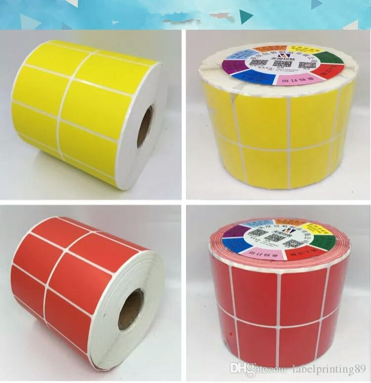 30*20mm /roll colorful blank coated paper sticker new plain Labels sticker office printer barcode sticker
