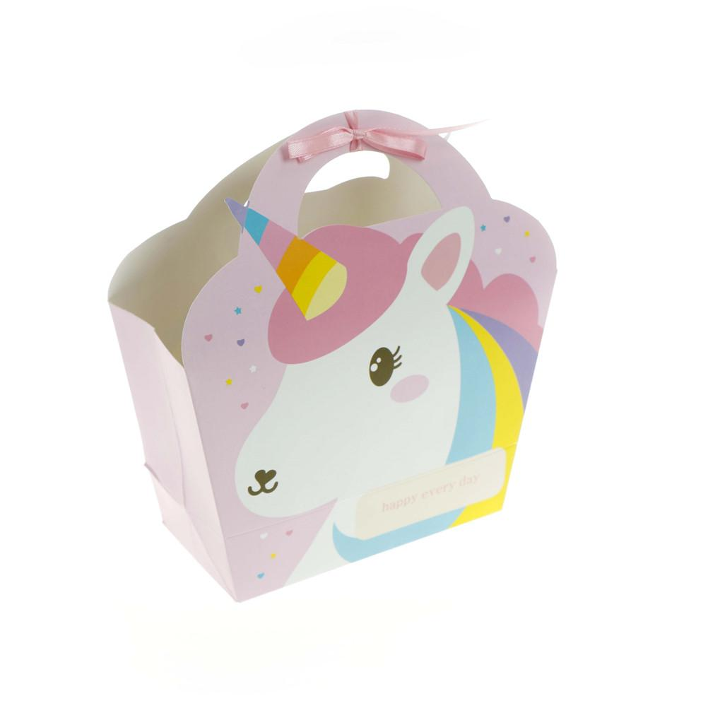 Unicorn Paper Candy Box 145x155x7cm Gift Bags Pink Bag For Party Baby Shower Birthday Supplies 30th Wrapping Amazing