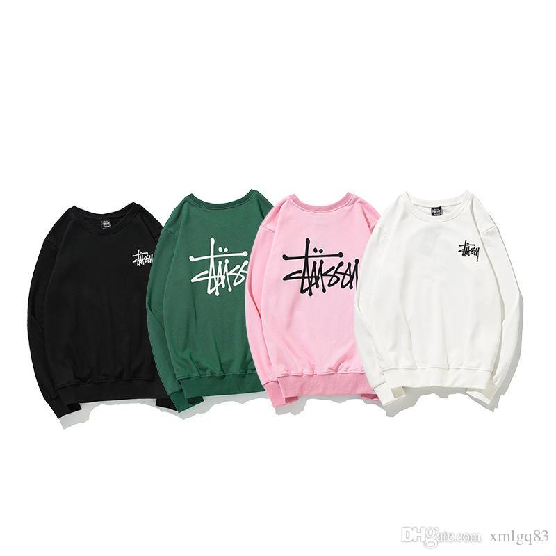 8e26ac526 18ss hommes et femmes du monde de croisière pull alphabet anglais à manches  longues Sweat-shirt en coton hip hop col rond style nouveau