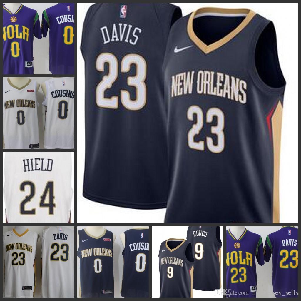 online retailer 2f67a a46fd 2018 New Orleans Pelicans Man Basketball Jersey #23 Anthony Davis 0  DeMarcus Cousins ORLEANS MINNESOTA All Star Jerseys