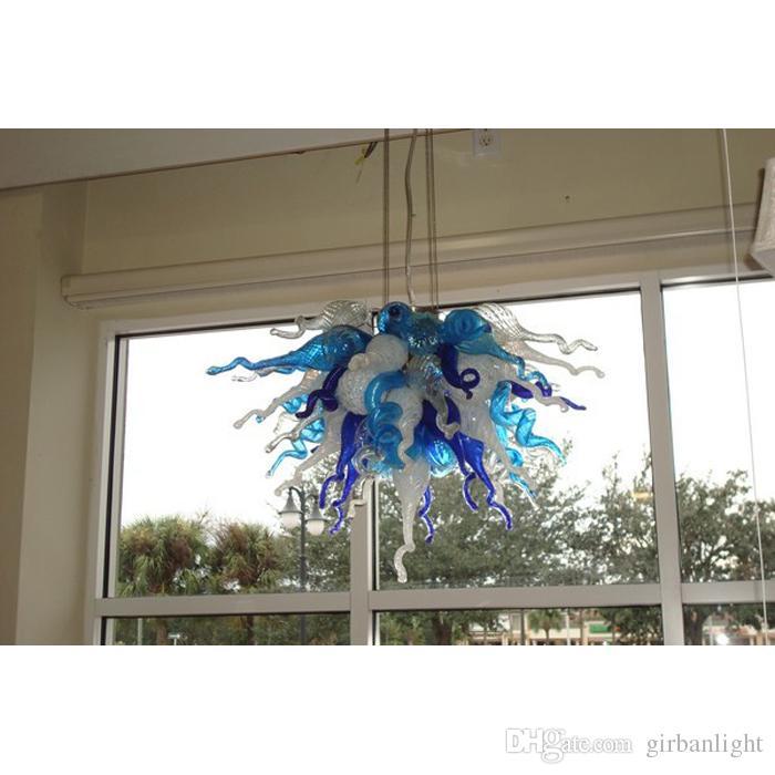 AC 110V 220V bunte mundgeblasenem Glas Kronleuchter Licht nach Maß Murano Glas Pendelleuchten moderne Kunst Chihuly Stil Glas Kronleuchter