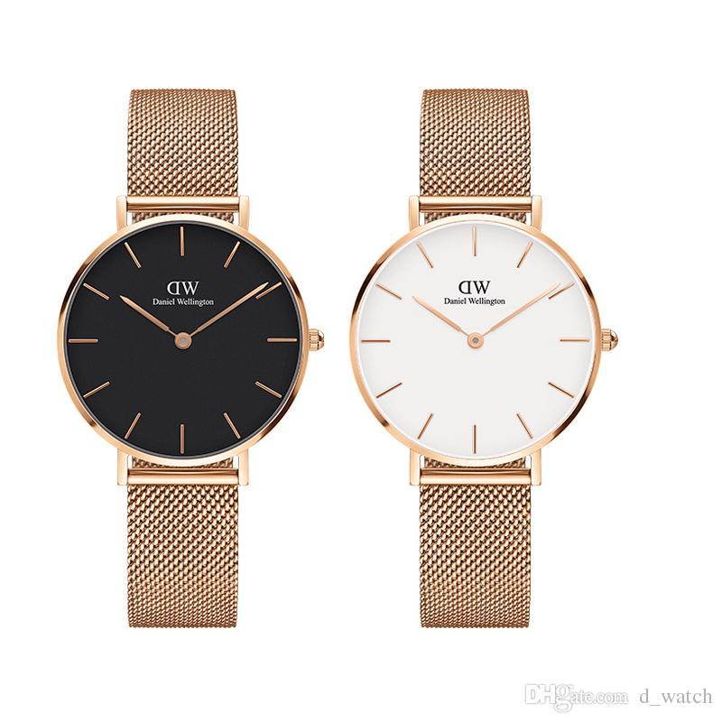 abb9073de814 Compre Daniel Relojes De Diseñador De Lujo Para Las Mujeres De 32 Mm De  Acero Inoxidable De Oro Moda Damas Mujer Niña Reloj De Pulsera De Alta  Calidad Para ...