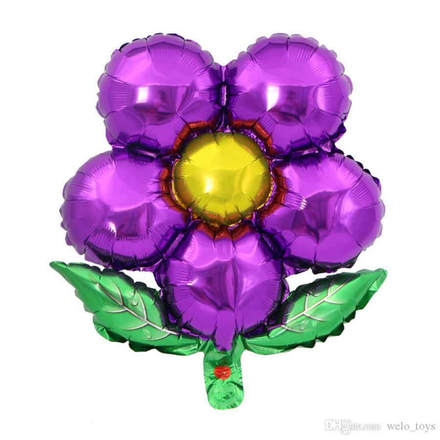 Leaves Five Petals Flower Foil Balloons Marriage Wedding Props Balloons Party Decoration Supplies Kids Inflatable Balloon Toys Gift