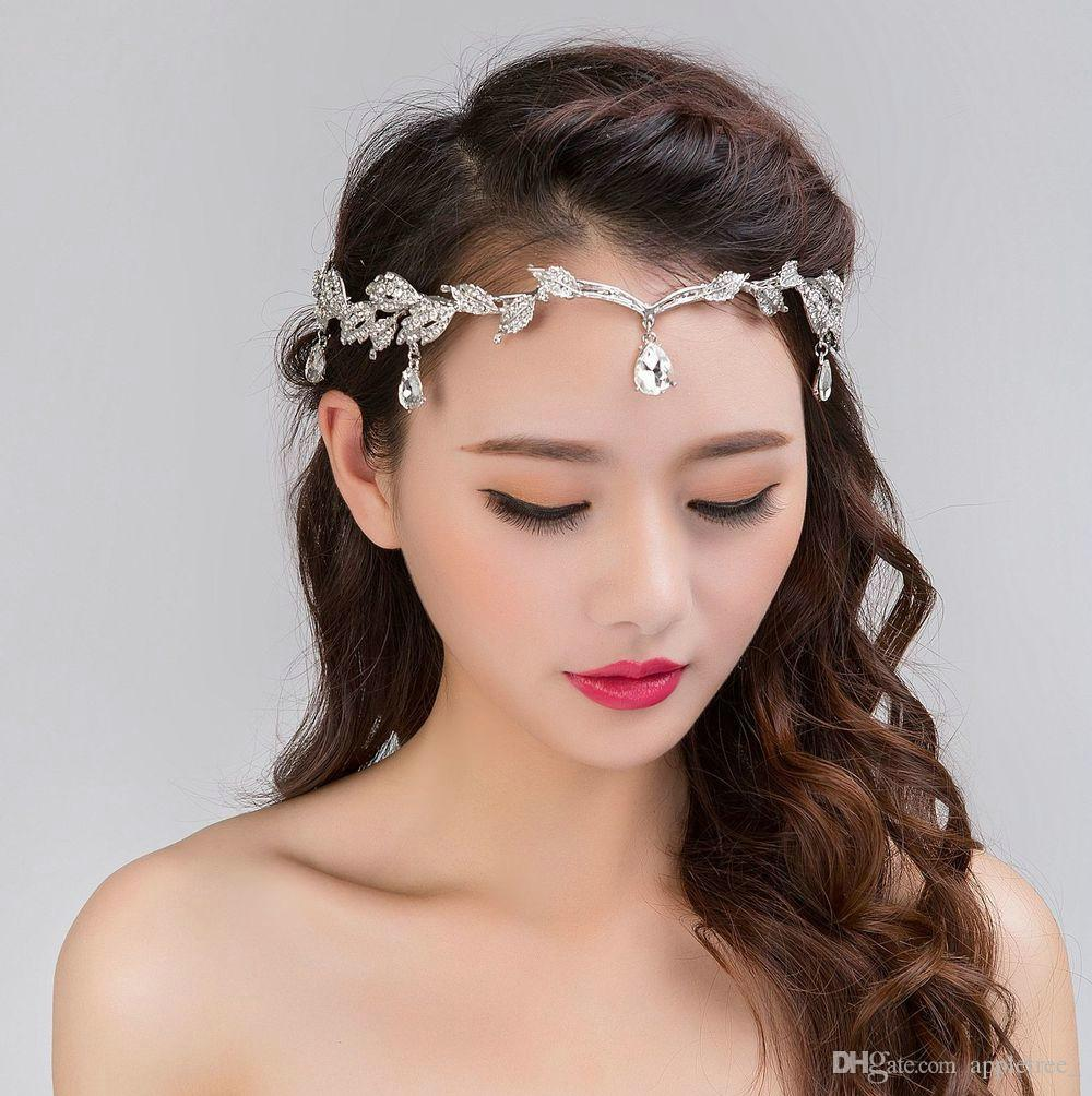 24ad955c31e 2019 Bridal Headwear Wedding Hair Jewelry Women Headband Hairbands Womens  Forehead Headpiece Tiara Vintage Crystal Rhinestone Hair Accessories From  ...