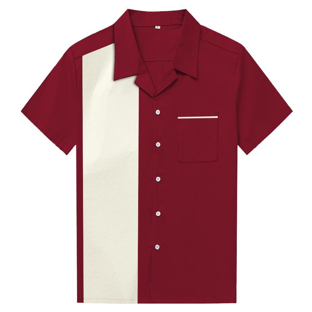 Compre Hombres Patchwork Estilo Americano Vaquero Camisas Casuales Street  Punk Rockabilly Ropa Blusa Camisas Solapa Camisa A  39.15 Del Mujing  19ffc6718668d