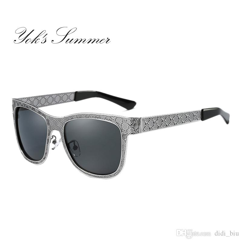 bd8d5eca6ef DIDI Square Polarized Women Brand Designer Hollow Pattern Metal Frame Sun  Glasses Decoration Protecton Mirror Sunglass WN065 Online with  21.19 Piece  on ...