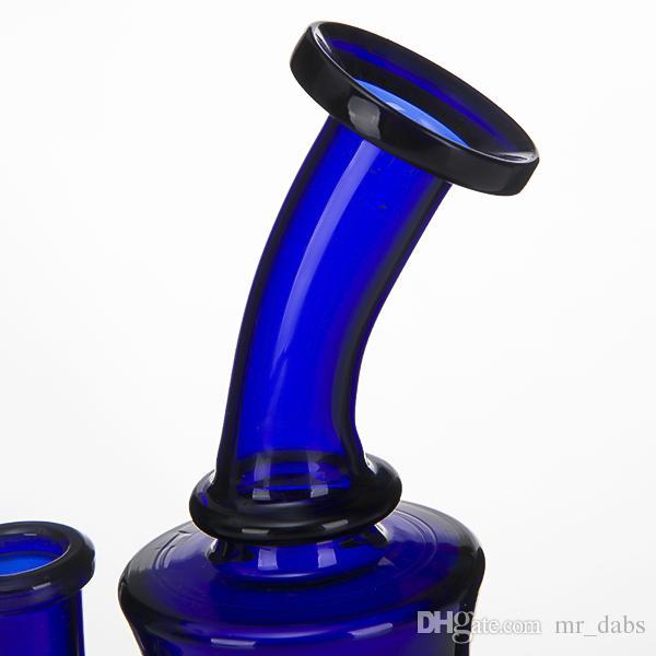 Glass Bong Water Pipes 14mm female Honeycomb Perc blue Bongs Heady Mini Pipe wax Oil Rigs small bubbler Hookahs beaker