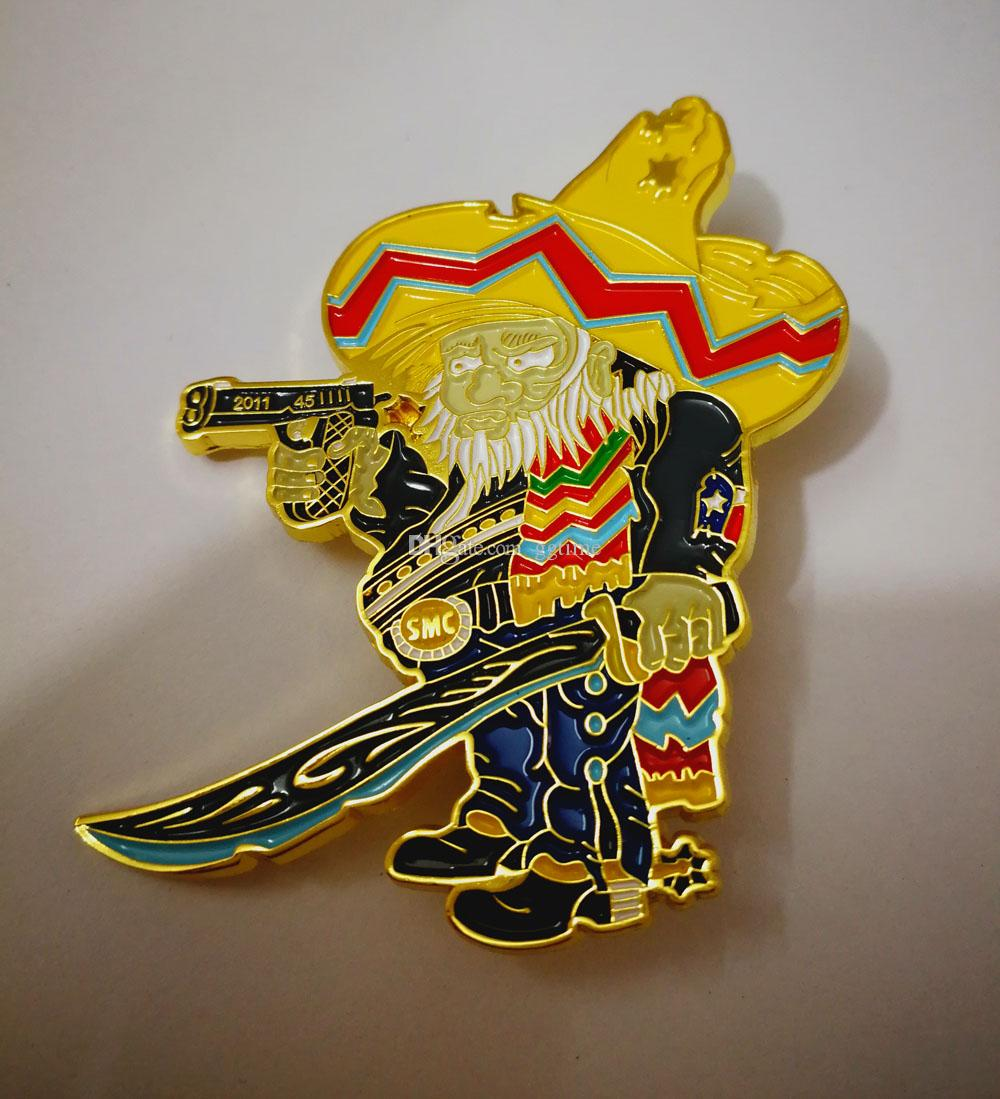 CUSTOMIZED BANDIDOS PINS BADGES BROOCHES FOR THE BANDIT MC MOTORCYCLE BIKER  PINS OF JACKET VEST SHOES BAG BROOCHES PINS BADGES