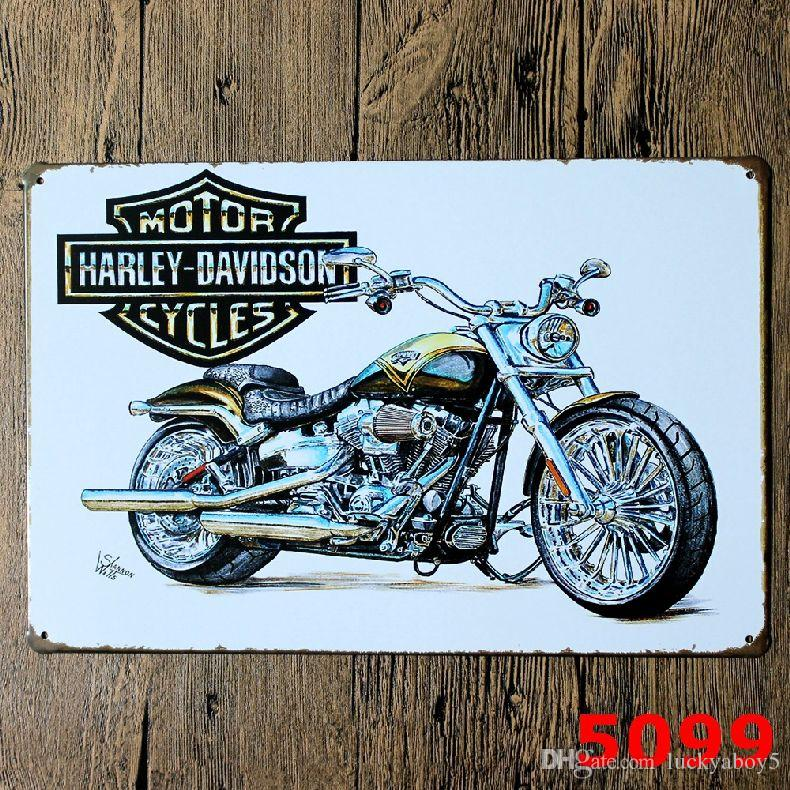 2019 Harley Davidson Motorcycles Metal Sign Vintage Garage Wall Art