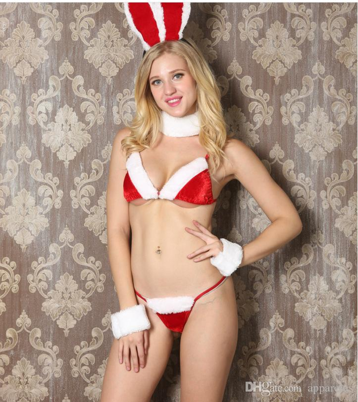 43b3b75e3 2019 Christmas Costumes Sexy Lingerie Manufacturers Game Uniforms Bikini  Bikini Girl Three Points Sexy Costumes From Apparelas