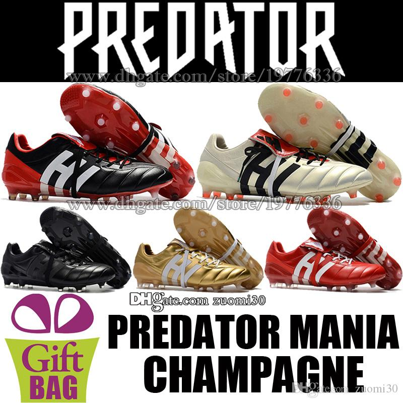 70740b9ea 2019 Original Predator Mania Champagne FG Football Boots Mens Outdoor Soccer  Cleats Predator Leather Soccer Shoes Boots Trainers Football Cleats From ...