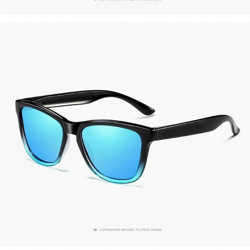 a3c1d51b7617a Compre Polarized Óculos De Sol Das Mulheres Dos Homens Clássicos De DESIGN  DE MARCA Condução Quadrado Quadro De Gradiente Óculos De Sol Masculino  Goggle ...