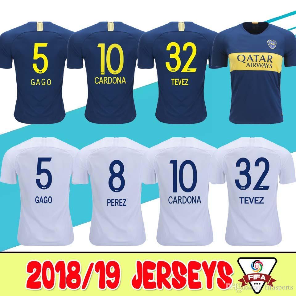 a5ee373c5 2019 Thailand Quality 2018 19 Argentine Super League Boca Juniors Soccer  Jerseys 18 19 GAGO  5 CARDONA TEVEZ HOME AWAY Football Uniforms Shirts From  ...