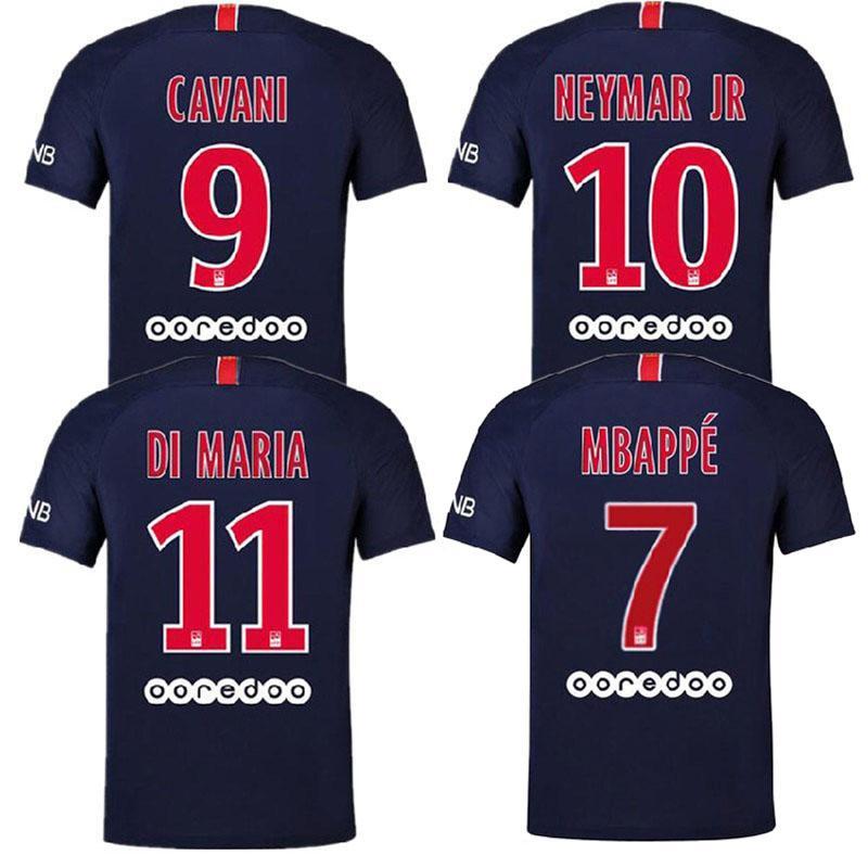 ae9fe3b8ea00c 2019 2018 Paris PSG Soccer Jersey 19 18 7 29 Mbappe 9 Cavani 10 DI MARIA  11NEYMAR JAR Football Shirts From Jersey6688, $11.17 | DHgate.Com