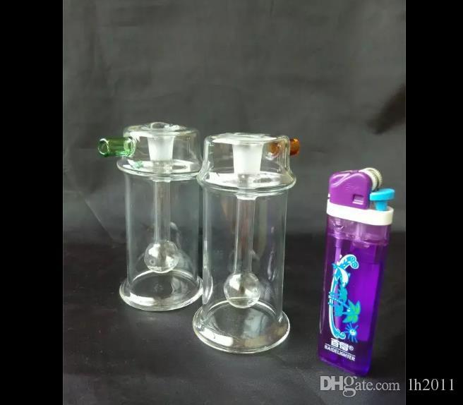 Gran botella de agua de vidrio cóncavo Venta al por mayor Bongs de vidrio Quemador de aceite Tubos de agua de vidrio Plataformas petroleras libre de humo