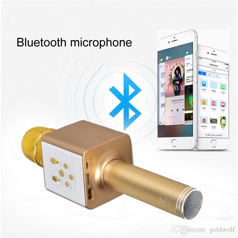 Ys-83 High quality KTV wireless Bluetooth mobile phone microphone Build-in Polymer Lithium-Ion Battery with button control