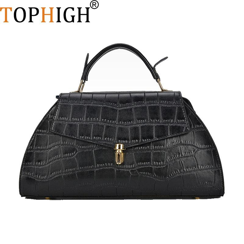 ce16c760ae3c TOPHIGH Women Messenger Bags Split Leather Crossbody Bag Ladies ...