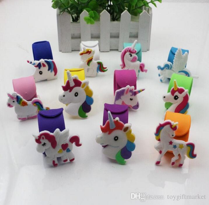 Silicone Emoji Bracelets Wristband Unicorn Birthday Party