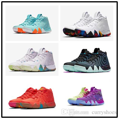 the best attitude 173ce fb1df Hot Kyrie IV 80S kids for sales Top Quality Irving 4 Laser Fuchsia With Box  free shipping size 36-46