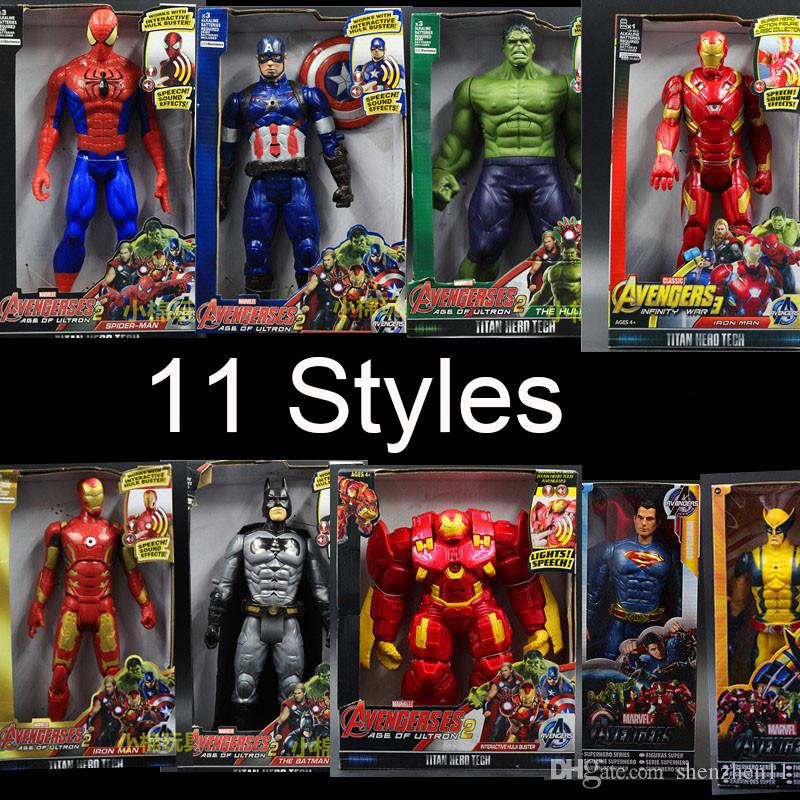 Jouets Hulk Figure 30 Spiderman Man Avengers America Cm Wolverine Captain 2 Ultron Heros The Pvc Iron Oth025 Figurines Marvel UzpLqGMSV