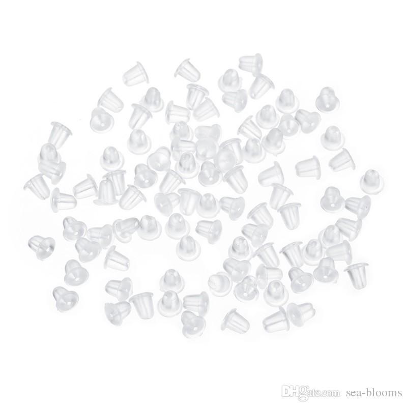 Rubber Stopper Backed Earrings Jewelry DIY Plastic Ear Plug Plugging Blocked Earring Back For Stud Earring Free DHL G201S