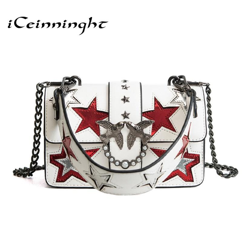 6f579ac8ec ICeinnight Brand Crossbody Bags Double Birds Stars Women Bag Designer  Handbags High Quality Chain Ladies Women Messenger Bag Satchel Bags Man  Bags From ...