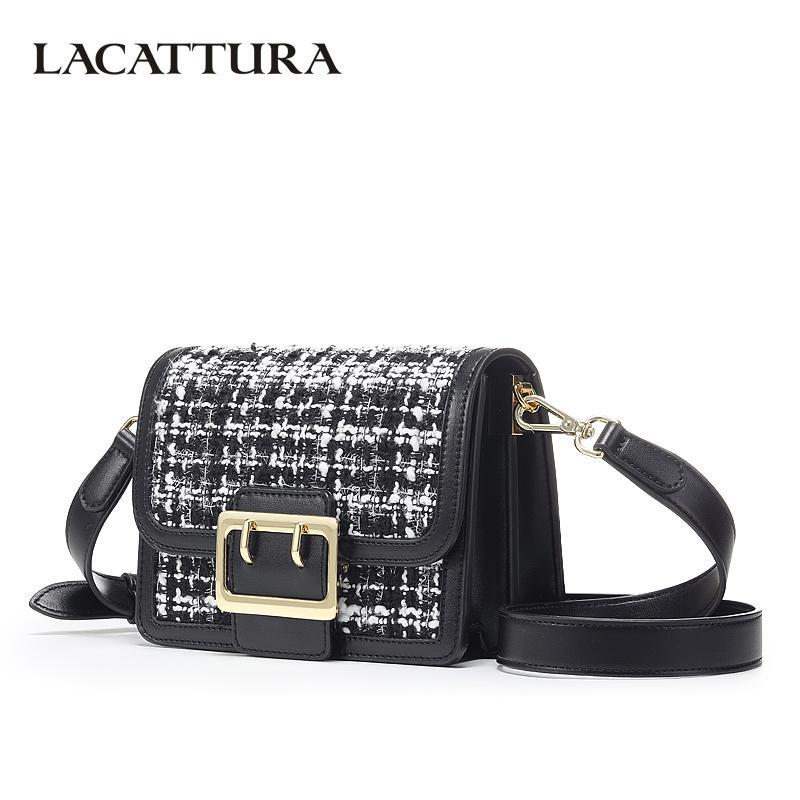 58f4f5ec4db5 LACATTURA Small Women Crossbody Bags Chic Woolen Fragrance Flap Bag  Designer Mini Organ Handbag Lady Shoulder Bag Tweed Ladies Purse Leather  Briefcase From ...