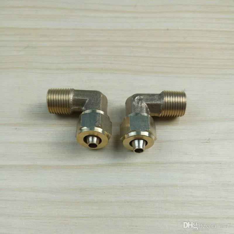 2018 Time-limited Special Offer All 1\8 Npt Brass 6mm 1\8 Npt Pneumatic Joint Fast Twist Elbow Pp Trachea