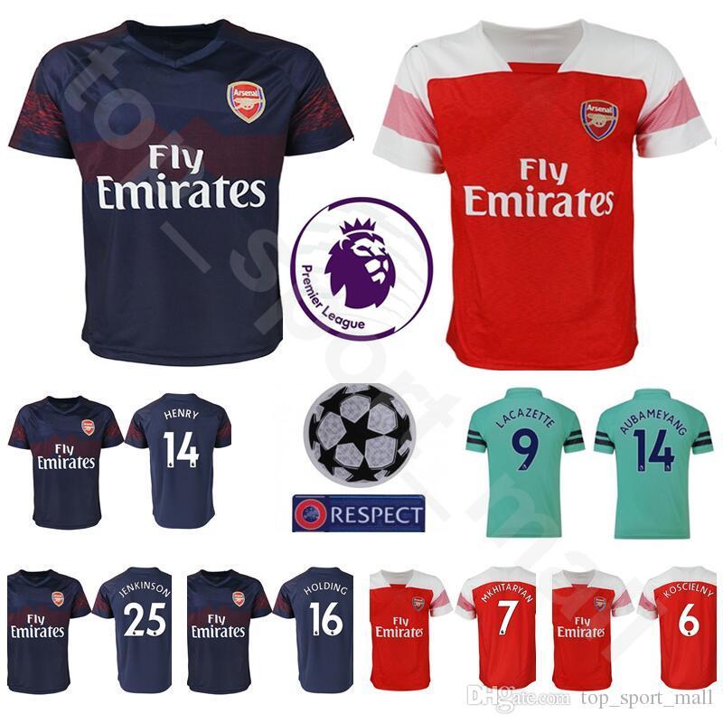 5329516a62 Compre 18 19 Temporada Homens De Futebol Jersey Arsenal FC Premier League  14 HENRY 10 BERGKAMP 6 ADAMS VIEIRA WRIGHT MARINHO Camisa De Futebol Kits  Uniforme ...