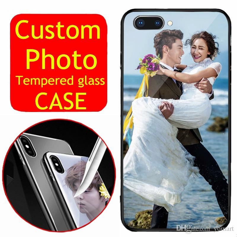 huge discount 07abd 19ce9 diy Design Photos Phone cover Personal Print Tempered Glass Custom phone  Case for iphone samsung huawei xiaomi phones