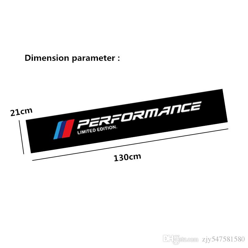 جديد m الأداء سيارة الزجاج الأمامي ملصقا ل bmw e30 e36 e60 e46 e90 e71 e87 f30 f10 f20 x1 x3 x4 x5 x6