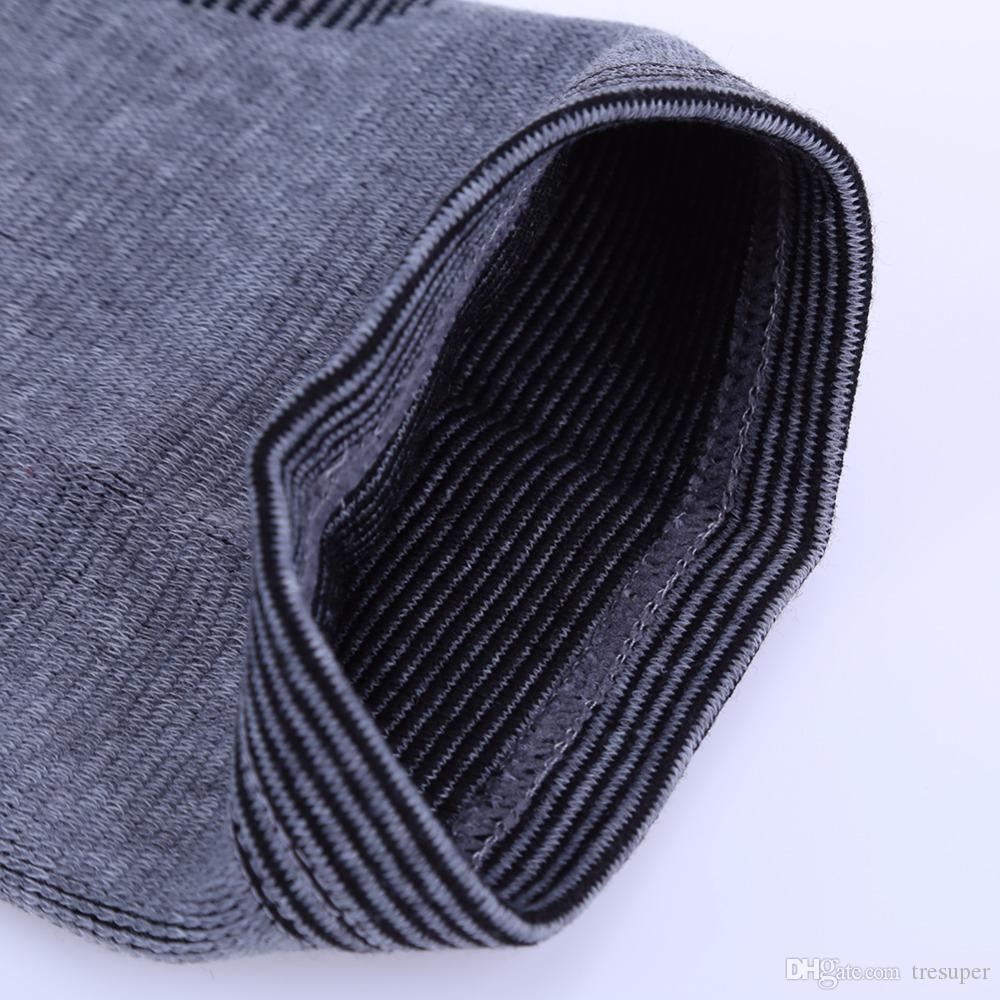 Высокая эластичная дышащая бамбуковый уголь колено поддержки коленного бандажа Pad Спорт безопасности поддержка Баскетбол Волейбол SML размер
