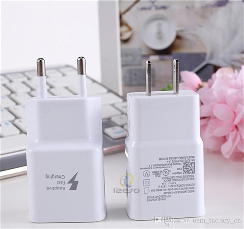 5 V 2A Carregamento Rápido Adaptador de Potência de Viagem Home Carregador Rápido EU Plugues UE Universal USB Parede Direto Carregadores para iPhone Samsung Huawei Izeso
