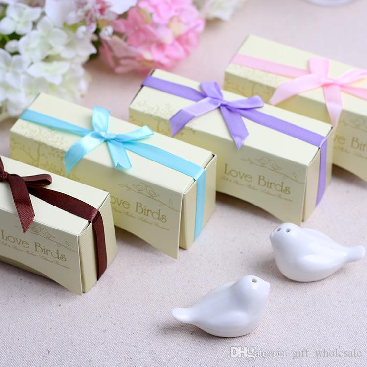 Useful Wedding Souvenirs Guests Love Birds Salt And Pepper Shakers