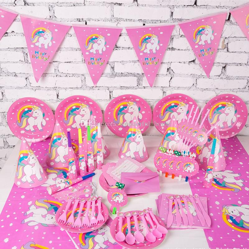 2019 Unicorn Birthday Party Decorations 53 Designs Hallowmas Supplies Children Private Decoration Kids 1stBirthay Table From