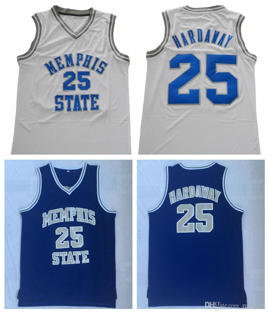 huge discount 4d95b b1d38 Mens Memphis State 25 Penny Hardaway College Basketball Jersey Memphis  Tigers Penny Hardaway Vintage Stitched Basketball Shirts S-XXL