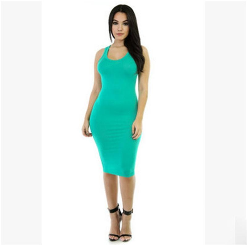 women dress europe and the united states vest skirt multi color package hip tight dress nightclub dress