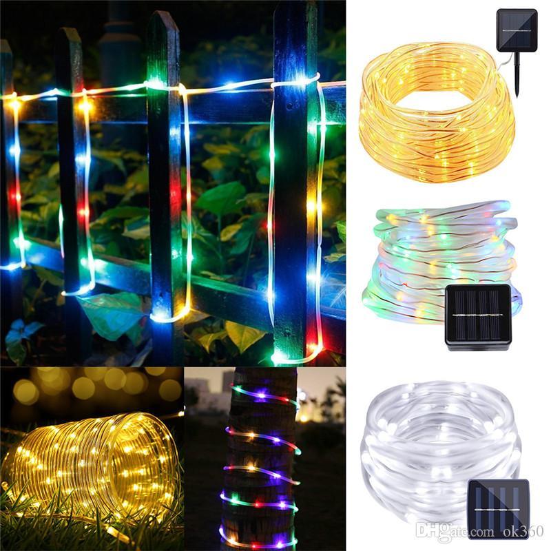 Solar Led String Lights Outdoor Cool 60m 60leds Solar Led String Lights Outdoor Colorful Rope Tube Led