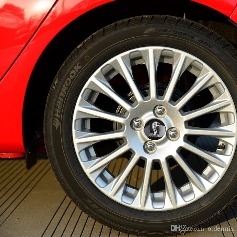 4 قطعة كوبرا سيارة عجلة القيادة الاطارات مركز سيارة ملصق محور كاب شعار شارة الشارات رمز لفورد موستانج جاكوار hubcap أودي bmw