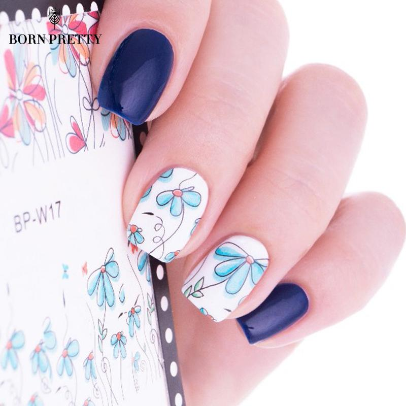 Born Pretty Cute Flower Nail Art Water Decals Transfer Sticker Bp ...