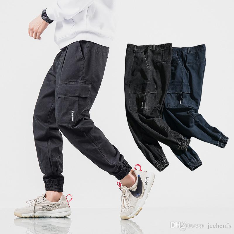 5659cd30a Sweatpant Jogger Pants Mens Pocket Tactical Cargo Pants Men Joggers Boost  Military Casual Cotton Pants Hip Hop Large Size Male Army Trousers