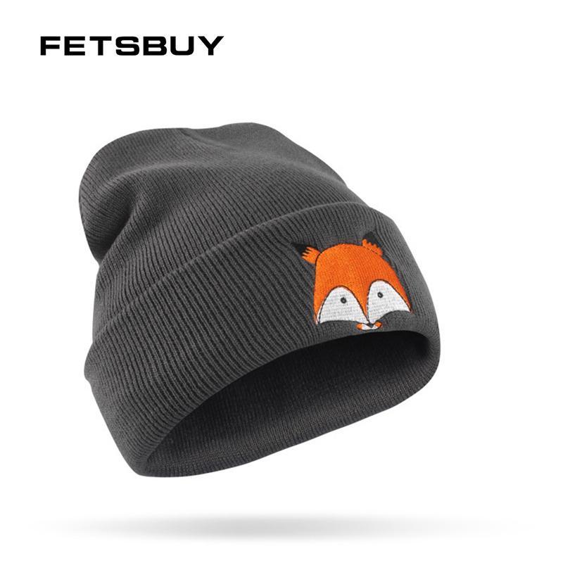 90951c00524 2019 FETSBUY Brand Spring Winter Hat For Women MenSkullies Beanies Mask  Female Turban Hats Cartoon Pattern Windproof Warm Knit Cap From  Kuaigoubian