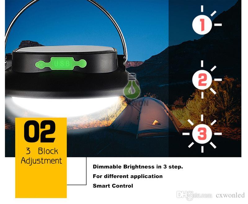 Banco al aire libre durable recargable ligero del poder de la recarga de GPS del teléfono celular de la linterna que acampa de la energía solar llevada