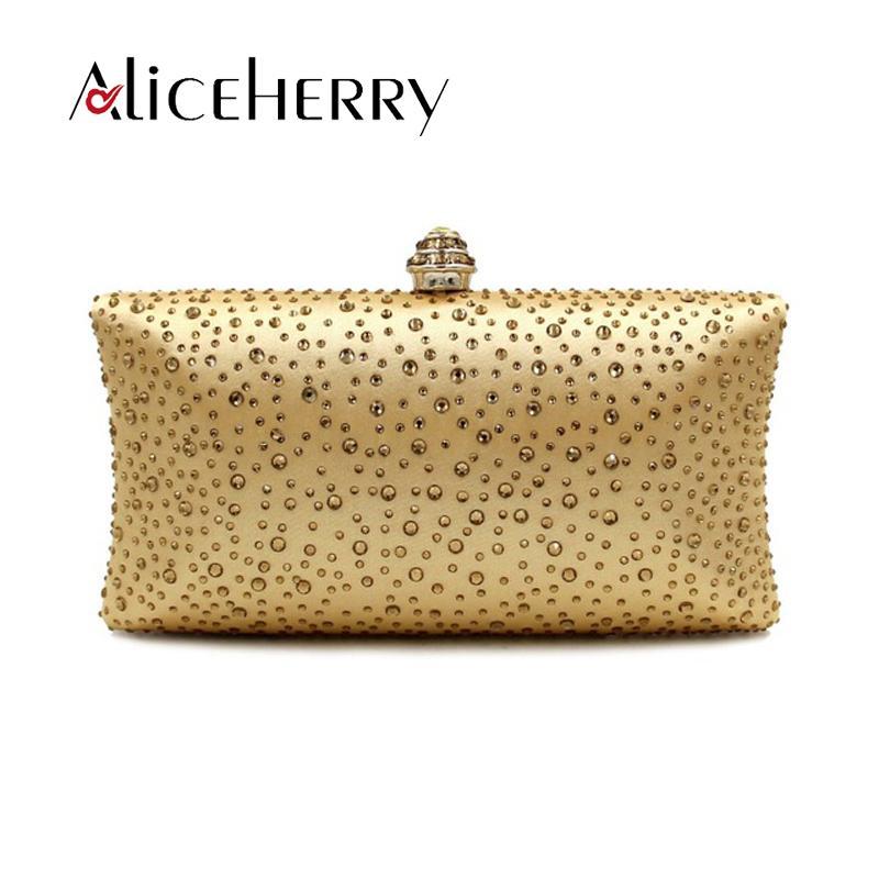 Luxury Handbags Women Bags Designer Clutch Chain Evening Bag Gold Silver  Crystal Banquet Party Purse Bridal Diamond Clutches Bag Pink Handbags Red  Handbags ... c47d1ccd718a