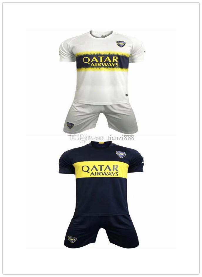 Compre 18 19 Boca Juniors Local Camisetas De Fútbol Uniformes Jersey De  Fútbol Para Hombres Boca Away Fútbol Azul Blanco Pavon GAGO TEVEZ A  16.25  Del ... 16146cbb723f5