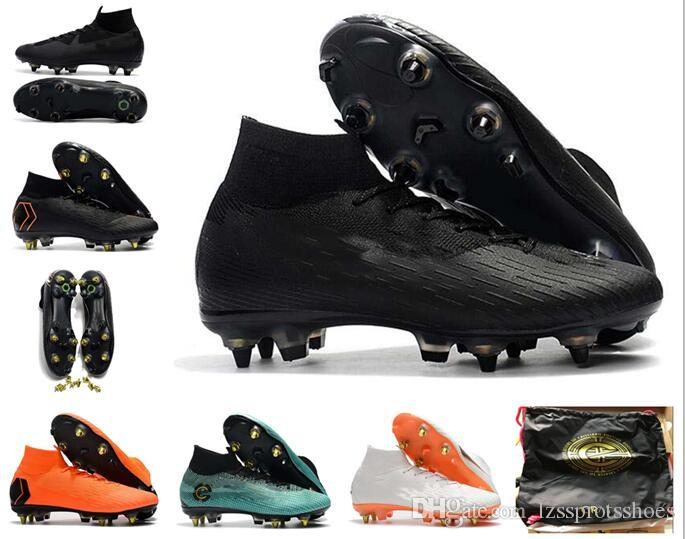 6034c84d832e 2019 GIFT BAG 20th Anniversary Soccer Cleats Mercurial Superfly VI 360 CR7  SuperflyX 6 Elite SG AC Soccer Shoes High Ankle Football Boots From ...