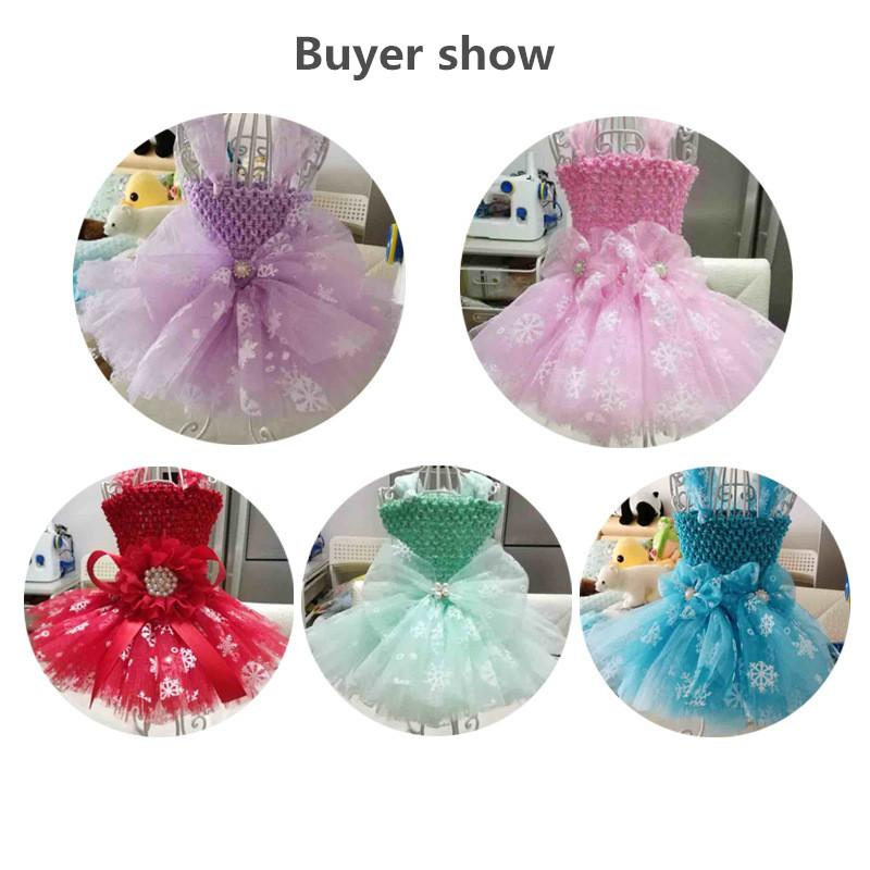 6inch*10Y Snowflake Printed Organza Tulle Rolls for Christmas Decoration Frozen Party Tutu Skirt Wedding Dress Supplies Deco