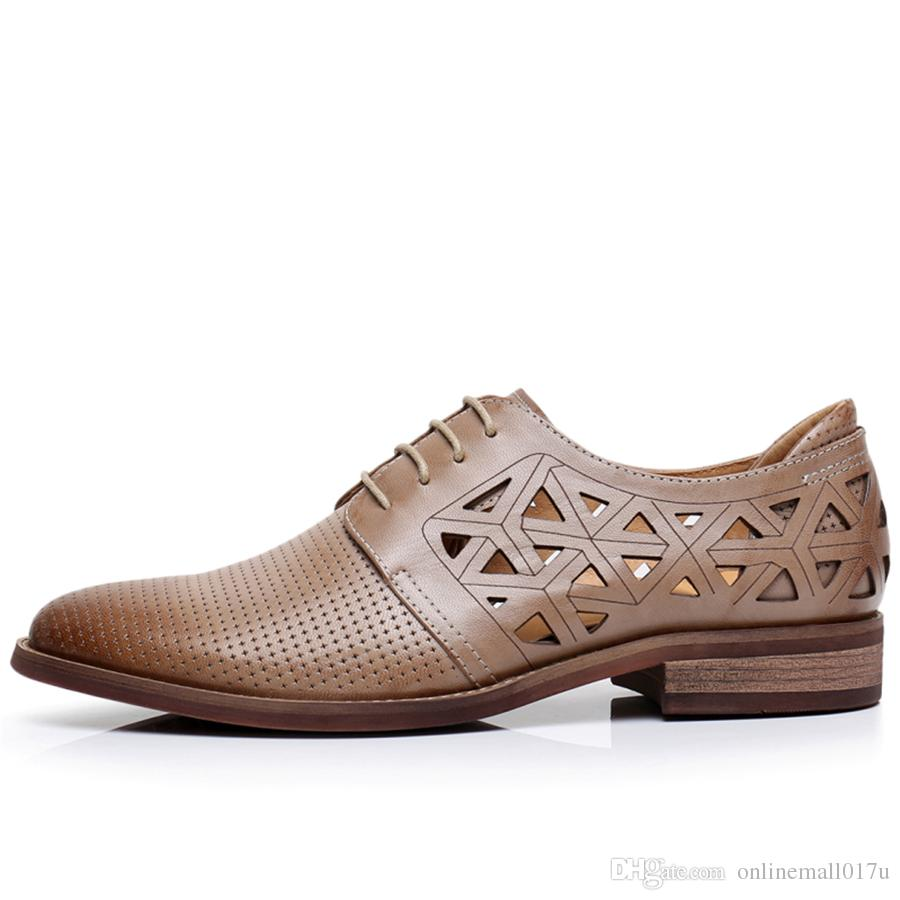 Compre Cuero Genuino De Piel De Yinzo Oveja Brogue Yinzo De Zapatos Planos De da383a